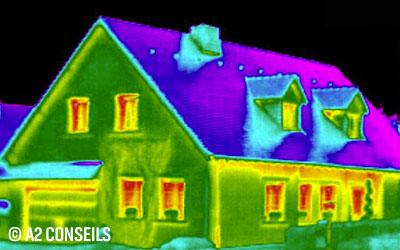 Thermographie extérieure d'une maison par A2 Conseils