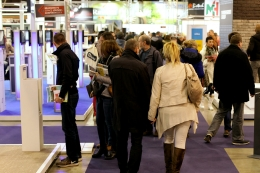 Visiteurs au salon Energies + Construction